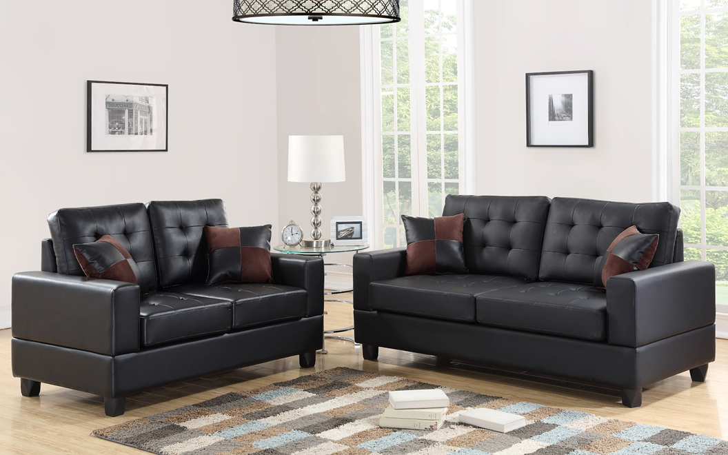 Branson Leather Sofa And Loveseat Mac S Furniture