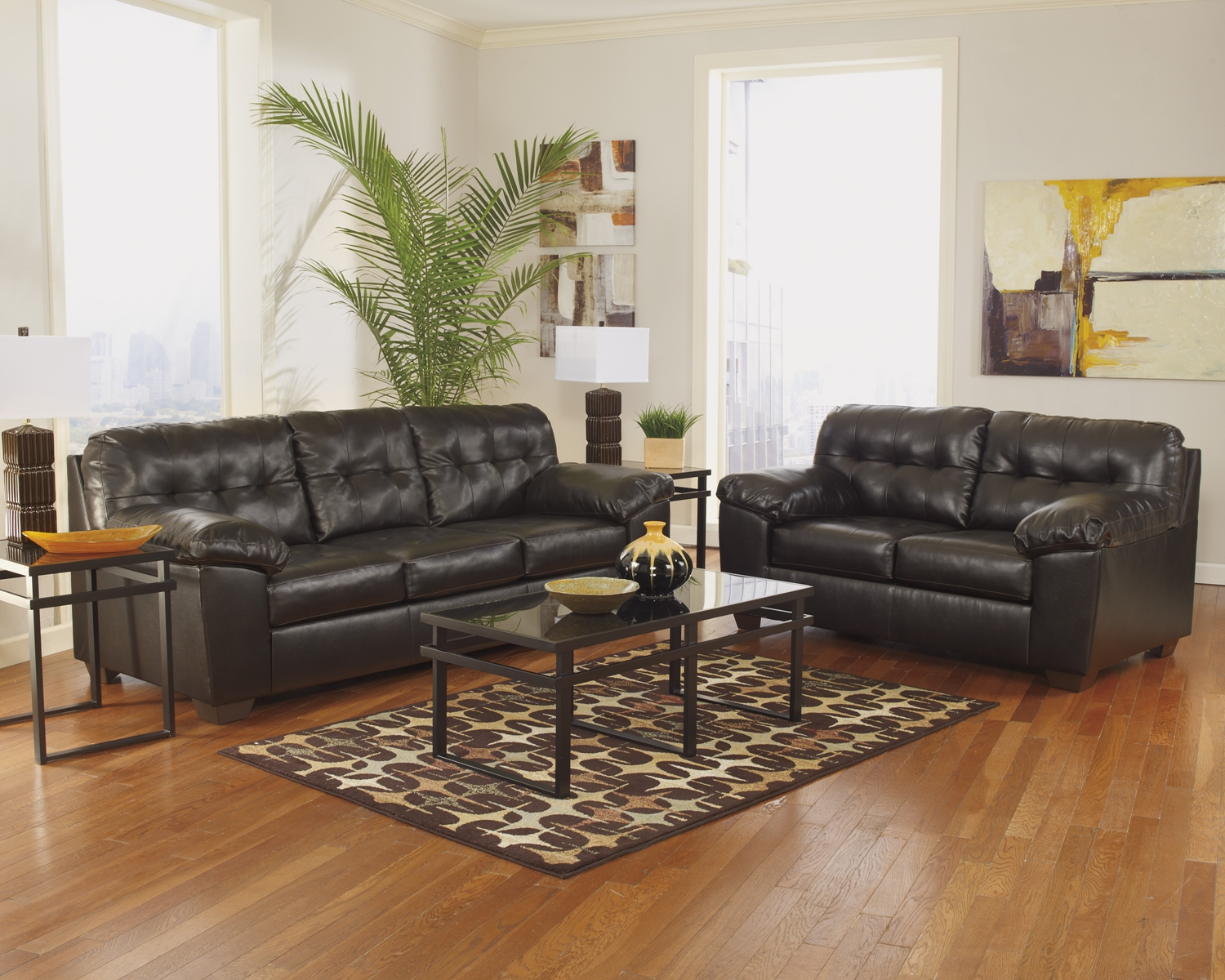 Awe Inspiring Allison Leather Sofa And Loveseat Andrewgaddart Wooden Chair Designs For Living Room Andrewgaddartcom