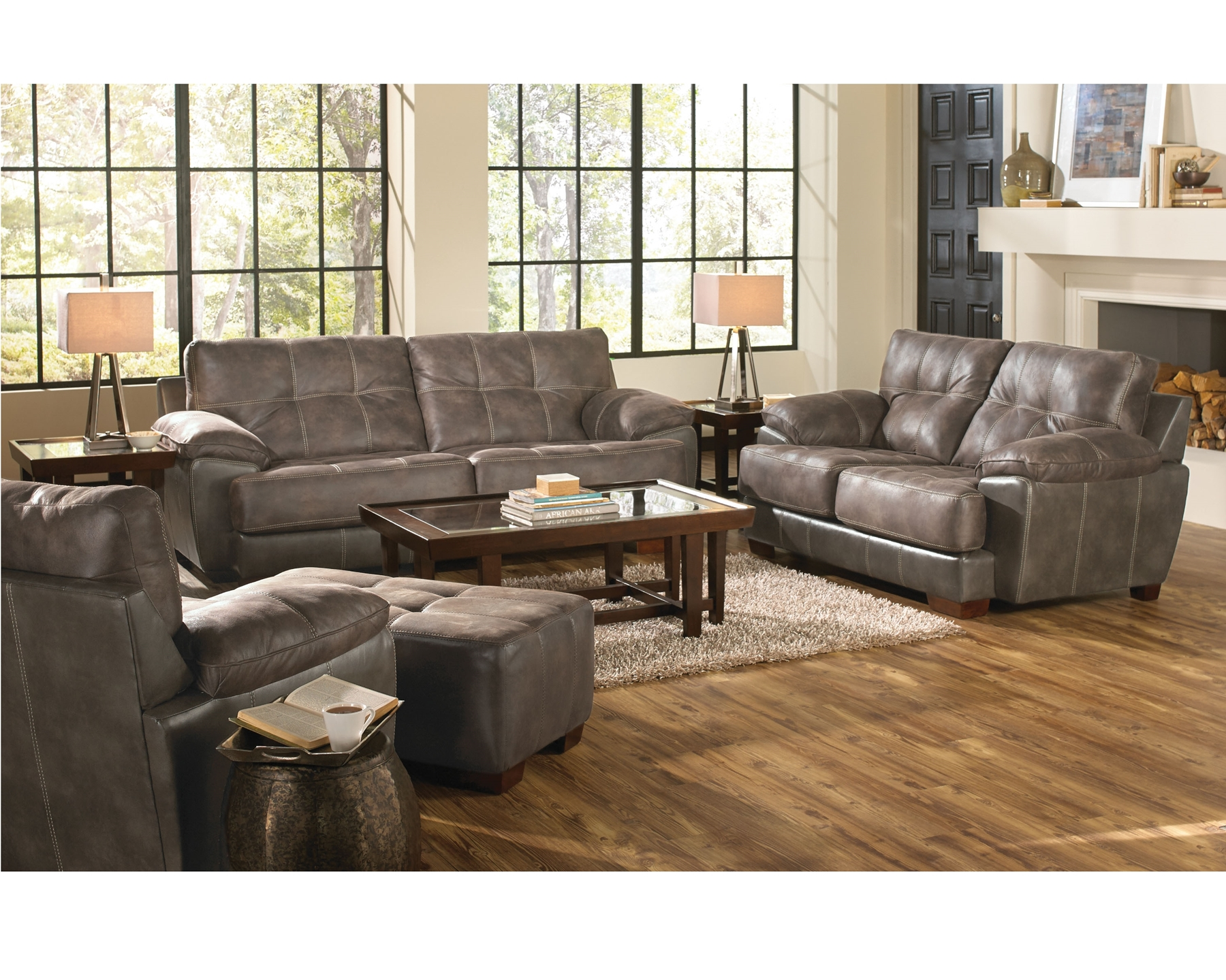 Drummon Leather Sofa And Loveseat Mac 39 S Furniture