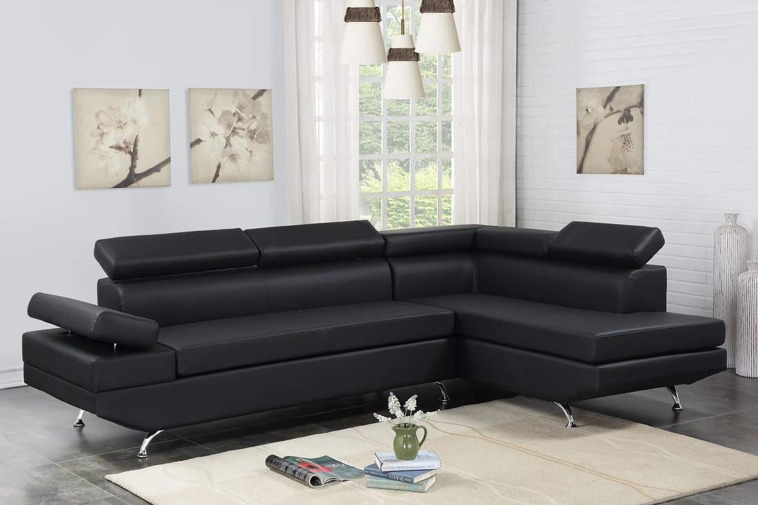 Moderno Leather Sectional Mac S Furniture