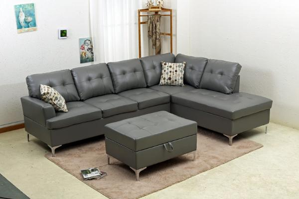 Sensational Liberty Leather Sectional And Ottoman Gmtry Best Dining Table And Chair Ideas Images Gmtryco
