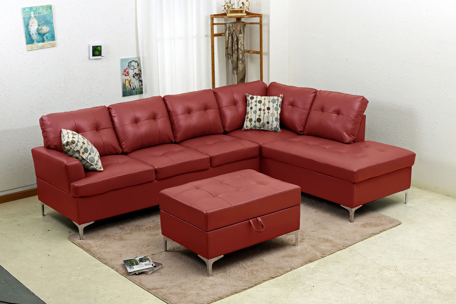 Liberty Leather Sectional And Ottoman Mac 39 S Furniture