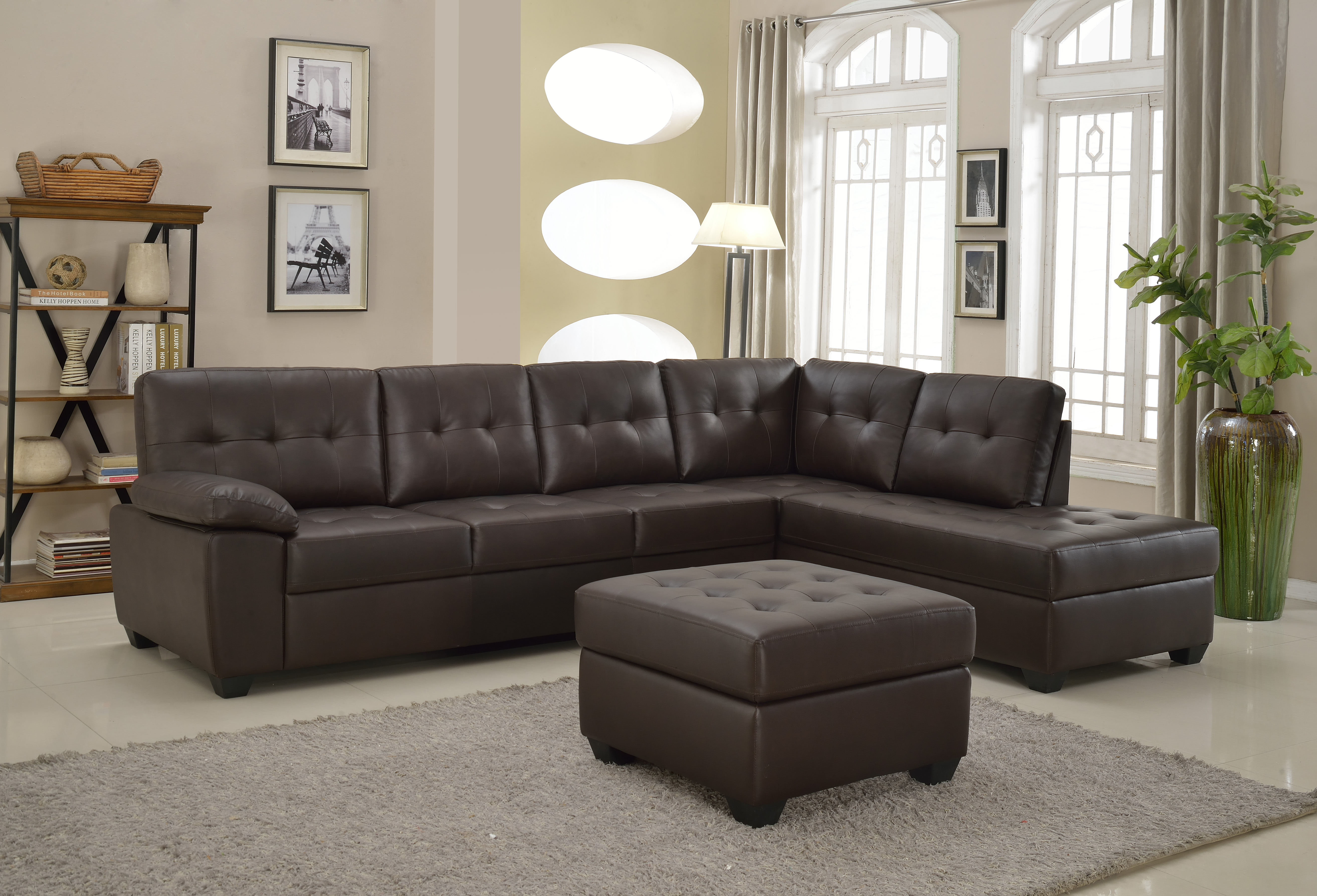 Logan Sectional And Ottoman Mac S Furniture