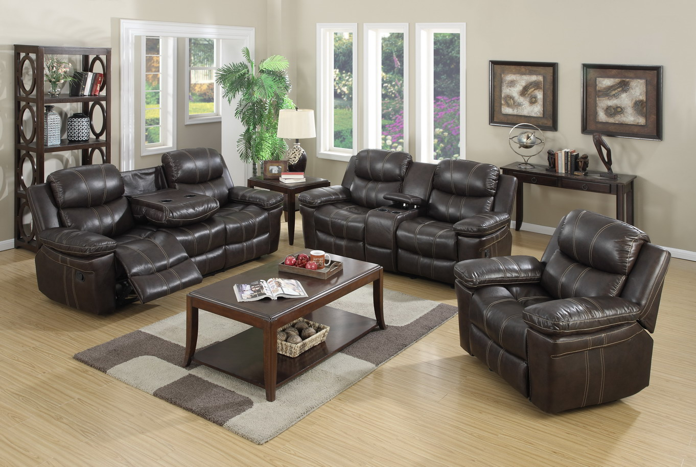 Remarkable El Dorado Leather Reclining Sofa And Loveseat Gmtry Best Dining Table And Chair Ideas Images Gmtryco