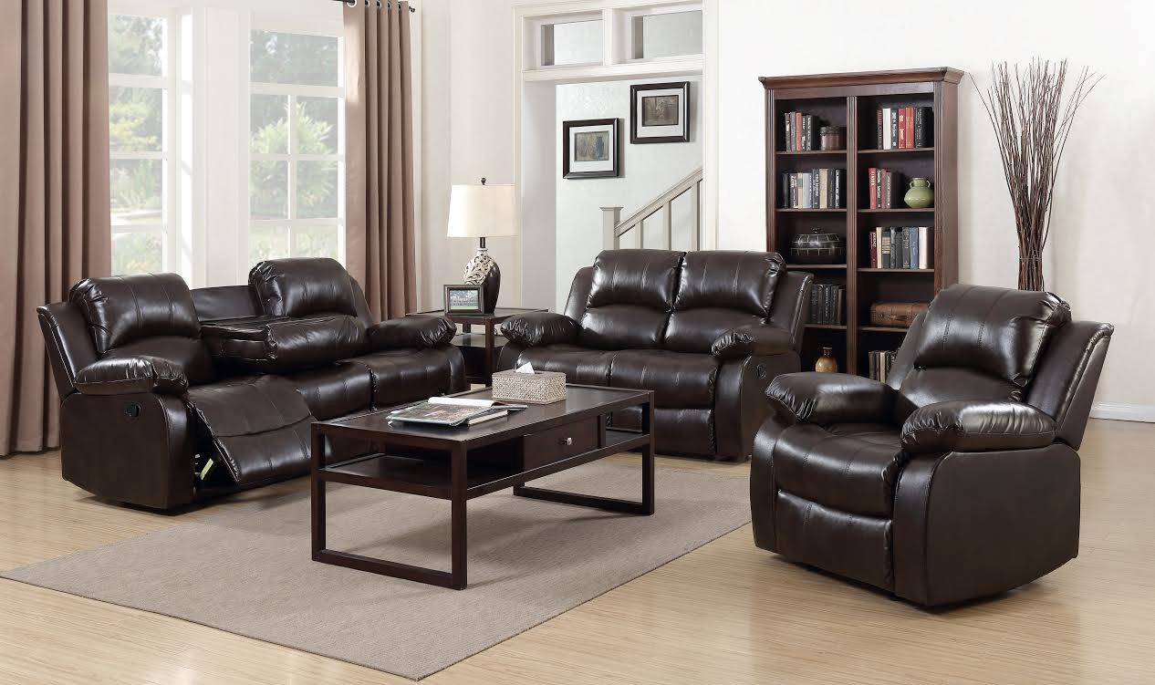 Astro 3 Pc Leather Reclining Sofa, Loveseat and Recliner – Mac\'s ...